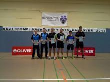 Siegerehrung Herrendoppel Kl B. mit Jan Philipp Filff und Nils Heise